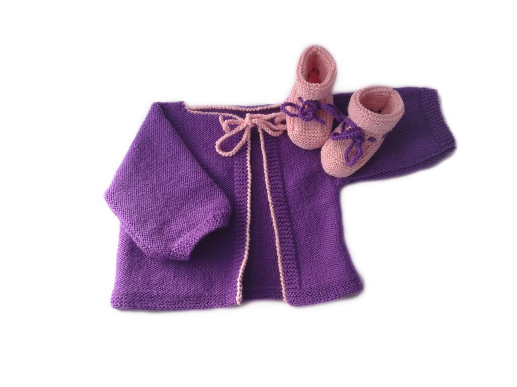 Baby Strickset von MyOma glatt links gestrickt