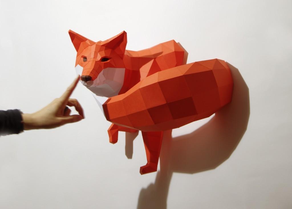 Papierskulpturen von Maker 'Wolfram Kampffmeyer'