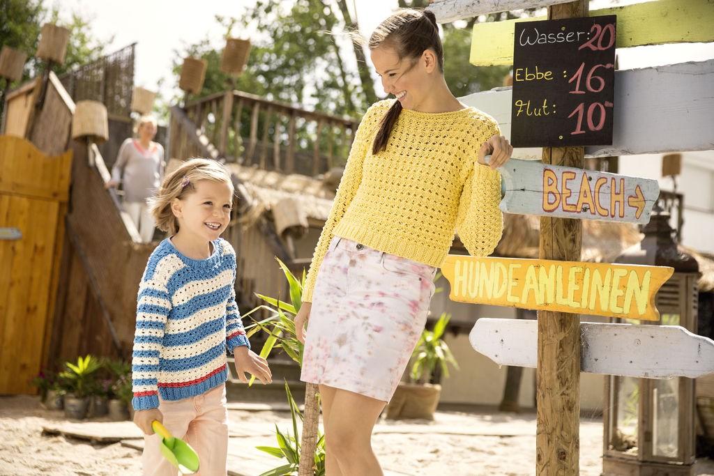 DIY Kinderpulli Marine und DIY Sommer-Pullover